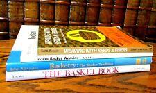 Basketry; Basket weaving; lot of 4, Indian, Reeds & Fibers, Shaker