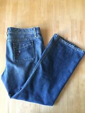 Tommy Hilfiger Womens Patchwork Flare Medium Wash Classic Rise Size 16s Jeans