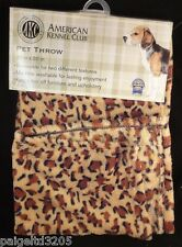 Akc American Kennel Club Pet Throw - Leopard Design / Dark Brown 20x30 in