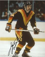 Vancouver Canucks Tiger Williams Signed Autographed 8x10 Photo COA
