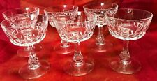 VINTAGE RETRO CRYSTAL CHAMPAGNE COUPE GLASSES X 6