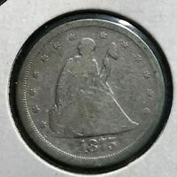 1875-S SILVER TWENTY CENTS PIECE SCARCE COIN