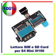 Lettore SCHEDA SIM + MICRO SD Card per SAMSUNG GALAXY S4 Mini i9190 FLAT FLEX SD