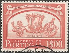 "Portugal Stamp - Scott #743/A178 1e Red Orange ""Museum of Coaches"" Used/Lh 1952"