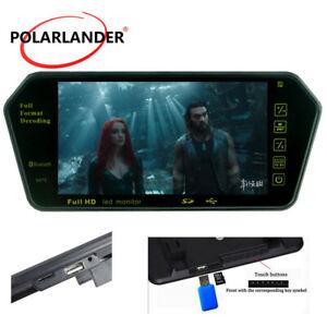 "7"" Car Rear View Mirror Monitor HD LCD Mp5 Player  Built-in Bluetooth FM/USB/TF"