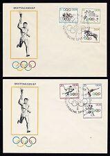 Gebiet DDR Briefmarken aus Deutschland (ab 1945) mit Ersttagsbrief für Olympische Spiele