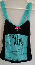 DIY OOAK handmade tank top Drugs amethyst*trash theturtlemaggie punk offensive