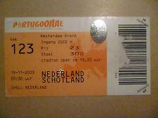 Original Ticket 2003 Netherlands v. Schotland - Amsterdam Arena, 19 November