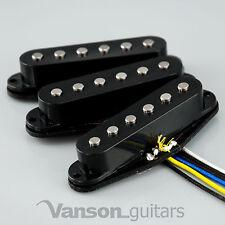 NEW Set of Vanson 'Classic Pro' Alnico V Single Coil Pickups for Strat®* Black