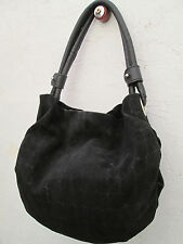 -AUTHENTIQUE   sac à main NAVYBOOT daim TBEG vintage bag Zurich