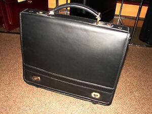 Leather document bag portfolio