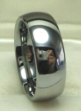 MEN 8mm TUNGSTEN CARBIDE comfort fit ring size 10 or 10.5 Wedding Band!