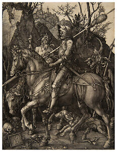 Knight Death and the Devil Albrecht Dürer Durer engraving ca.1513