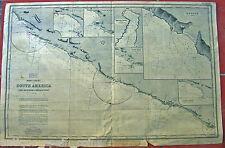 CARTA NAUTICA OLD NAUTICAL CHART WEST COAST SOUTH AMERICA PORT S NICOLAS CORNEJO