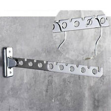 Stainless Steel Clothes Hanger Wall Mounted Folding Home Rack Coat Drying Hook