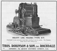 ROCHDALE Thomas Robinson & Sons Engineers - Antique Advert 1909