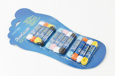 12 Paar Schnürsenkel Schnürbänder flach rund Senkel 7 Farben für Schuhe NEU