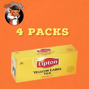 LIPTON TEA Yellow Label International Blend 25 bags x 2 g each - Set of 4 boxes