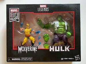 Marvel Legends Hulk vs Wolverine 2 Pack Action Figures 6-Inch 80 Years