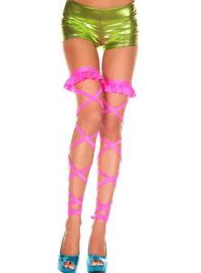 ML-34001 Sexy Gogo Dancer Clubwear Rave Raver Wear Pink Thigh High Leg Wrap