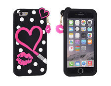 ^ BACK CASE 3D Silikon Hülle Handy Tasche Case Cover Herz Für Apple iPhone 5 5S