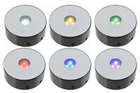 Santa Cruz Lights 4 LED Programmable Multicolor Light Black Stand for Crystals
