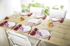 6 tlg. Teller Set mit roten Blumen Motiv* 24 cm*Camping Kinderparty Grillfete