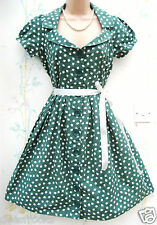 ATMOSPHERE SIZE 10 APPLE PRINT COTTON GREEN SUMMER DRESS 50 STYLE  # US 6 EU 38