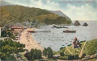 Antique DB Postcard CA D493 Avalon Santa Catalina California Ship Boats Beach