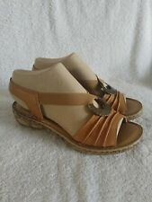 Spring Step Womens Tan Open Toe Sandals Size 38 Euro 8 - 8 1/2 M US