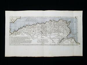 1785 ZANNONI: North Africa, Numidia, Algeria, Tunisia, Lybia, Mediterranean Sea