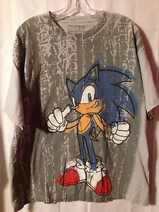 Graphic Sonic The Hedgehog All Over T-Shirt. Sega. XL