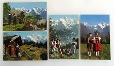 Kanton Bern Postkarten Lot mit 4 Karten Berner Trachten Brauchtum Alphornbläser