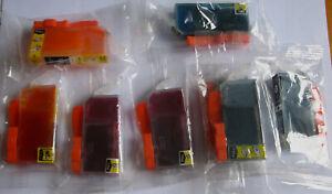 Drucker Refill 8 Stück Tintenpatronen für Canon Pixma MG6150 gefüllt