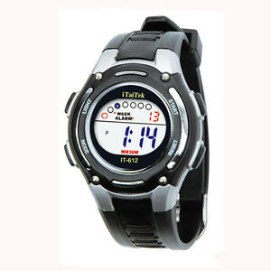 Fashion Unisex Children's Silicone Strap Digital Sports Wrist Watch Waterproof