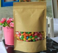 50pcs Paper Food Candy Bags Cookie Shopping Storage Kitchen Party Bag w/ Window