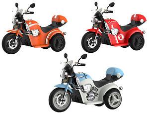 Moto Motocicletta Elettrica Grillo Per Bambini 6V Luci e Suoni Ruote Grandi