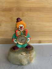 Ron Lee Clock Clown Sculpture Signed 1991