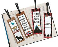 Pack of 12 - Adventure Bookmarks - Reading Stationery Books Party Bag Fillers