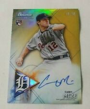 2021 BOWMAN STERLING GOLD REFRACTOR AUTO 18/50 ROOKIE CASEY MIZE DETROIT TIGERS