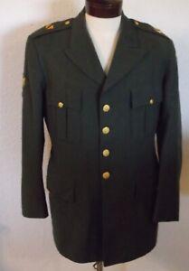 KOREAN ERA US ARMY MEN'S CLASS A GREEN DRESS UNIFORM SERGE WOOL SIZE 43L