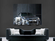 NISSAN GTR SILVER RACING CAR POSTER IMAGE PRINT GIANT