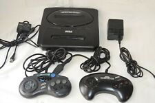 Model 2 Sega Genesis System Console 2 Controllers and All Cables Tested Working