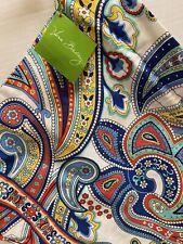 NWT Vera Bradley Marina Paisley Drawstring Ditty Utility Plastic Lining Gym Bag