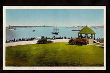 c.1907 war ships in harbor entrance from fort allen park portland maine postcard