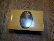ANTIQUE MAUCHLINE COLLECTION  BOX ? CLASSIC MARBLE BUST