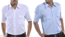Camisas de vestir de hombre azul sin marca