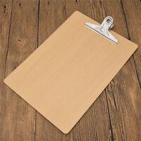 A4 Büroklammer Wooden Zwischenablage Board Schreibplatte Klemmbrett Papier Clip