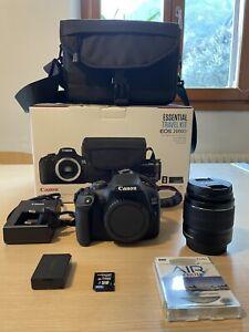 Canon EOS 2000d + Travel Kit