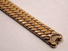Vintage Ladies Speidel Fiesta Expansion Watch Bracelet NOS Yellow Gold Filled
